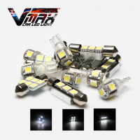 VMAX 8PCS LED Interior Map Dome License Plate Lights Bulbs Kit White 6500K Auto Car Accessories