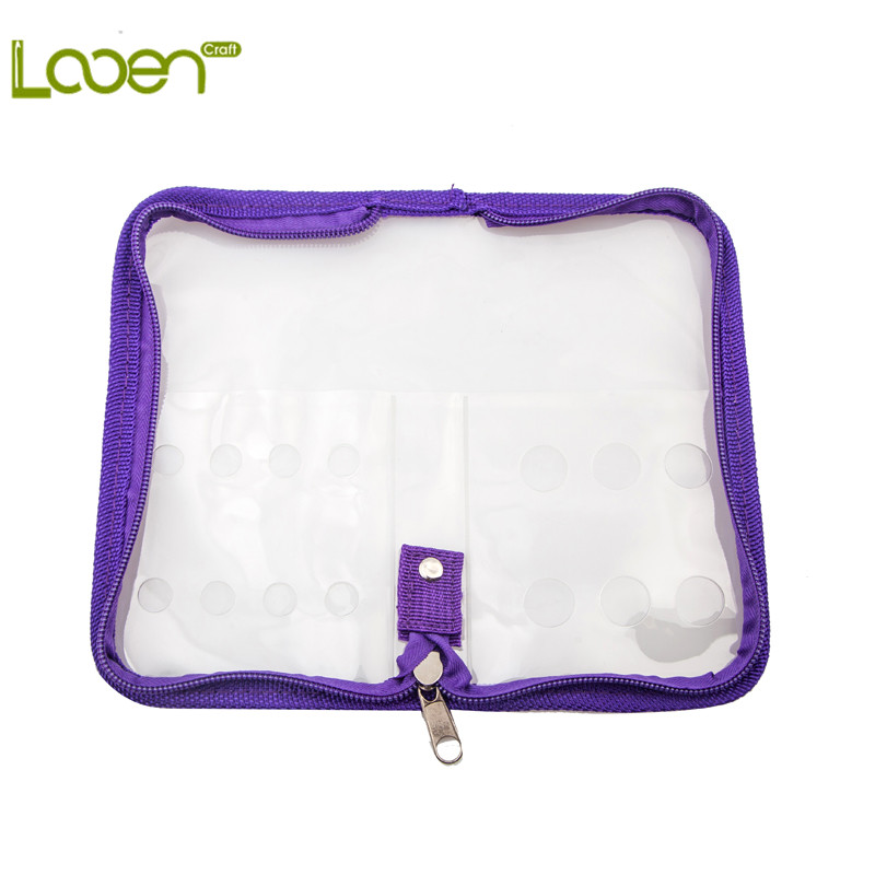 Empty Crochet Kit Case Transparent PVC Bag For Crochet Hooks Yarn Craft Knitting Needles Sewing Bag Pencil Case Home Sewing