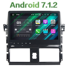 Android 7.1.2 Quad Core 2GB RAM 16GB ROM 2 Din FM USB Car Radio Stereo MP3 Player for Toyota VIOS  YARIS 2013 2014 2015