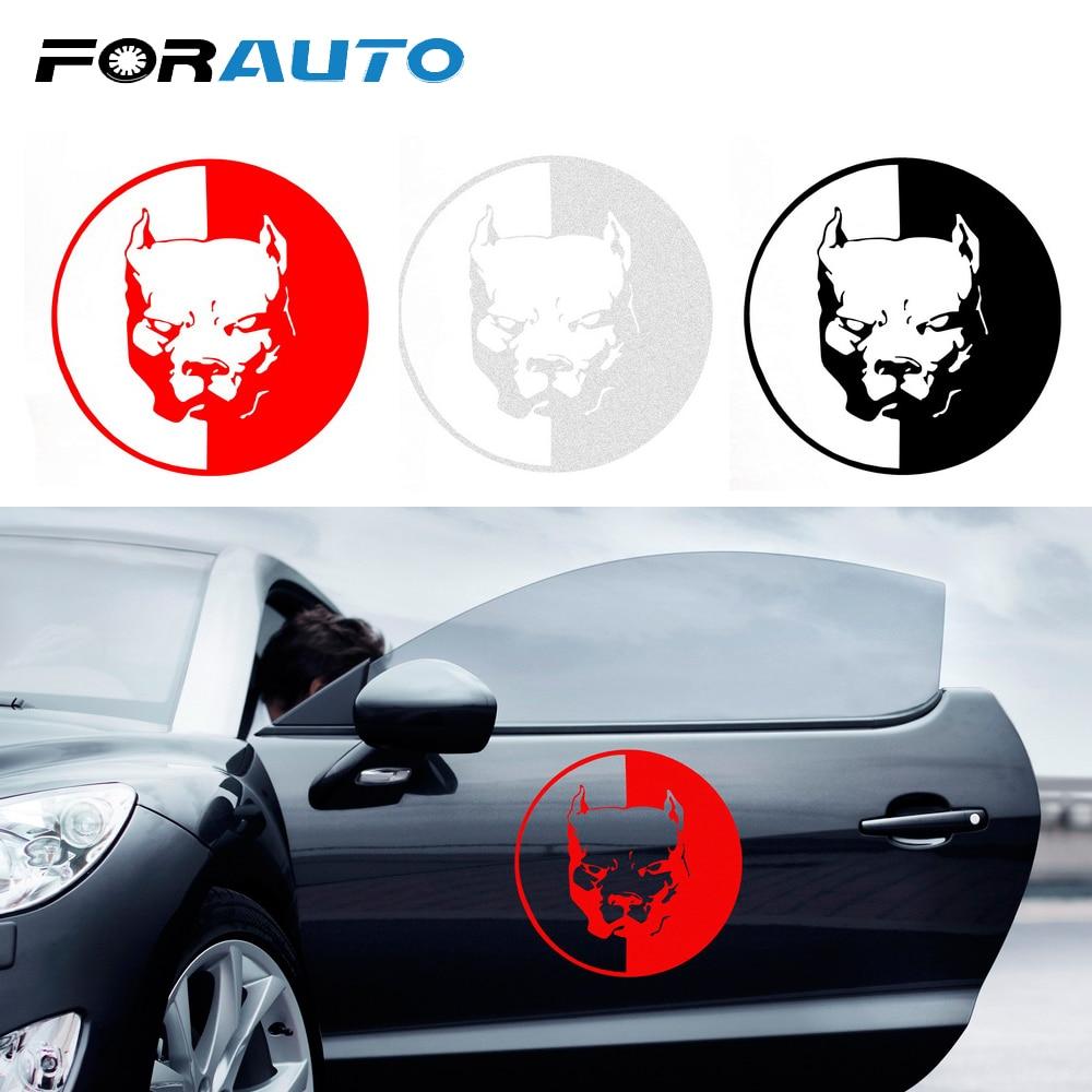 Forauto car sticker bulldog pitbull reflective auto decoration car styling cool car stickers and decals car accessories 1212cm