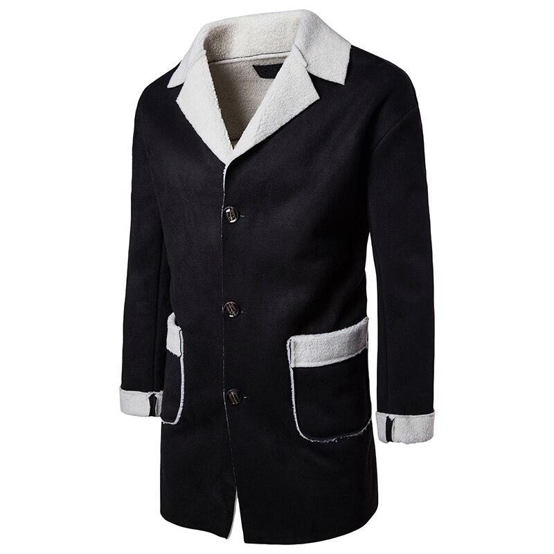 Slim Paragraphe Laine Vestes kaki Mode Hiver Noir De Manteau Hommes Chauds Tranchée 2018 Fit Long Outwear Automne Vêtements 4Pwq5vO