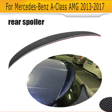 Carbon Fiber O Style Rear trunk Roof wing spoiler for Mercedes Benz A-Class W176 A180 A45 AMG 13-17 Car Accessories