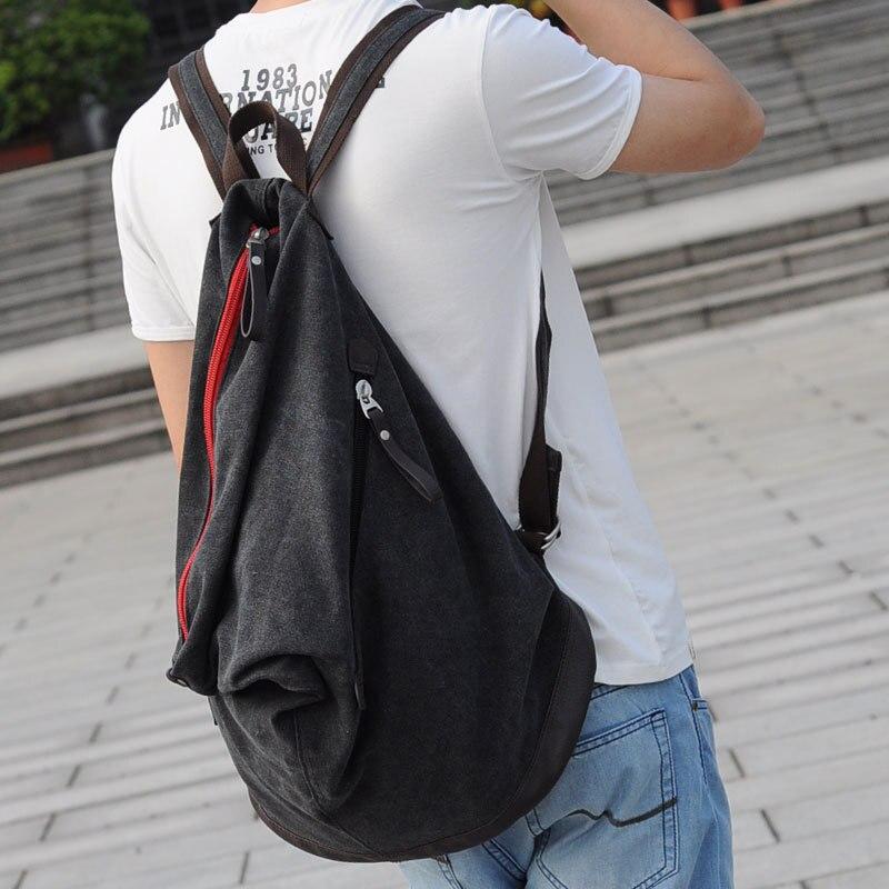 ФОТО 2015 Men Bag High Quality Canvas Backpack Brand Shoulder Men's Travel Bag Large Capacity Backpacks
