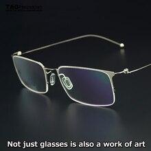 68e643c6c TAG العلامة التجارية أحدث النظارات الإطار الرجال رقيقة جدا خفيفة للغاية  التيتانيوم الإبداعية مصمم نظارات إطار