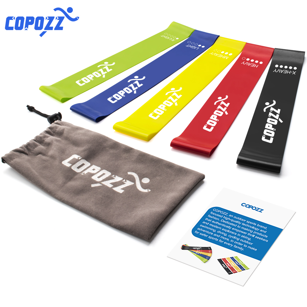 COPOZZ Resistance Bands Fitness Elastic Band 30cm Natural Latex Mini Sport Gym Workout Expander Training Yoga Pilates Exercise цены