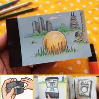 Yaratıcı Trendleri DIY Önerin Hediye Flip Flap Kitap Evlilik Yüzük Karton Flippist FlipBook Gizleyebilirsiniz, sihirli hileler, sahne