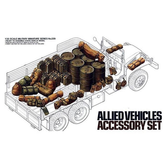 OHS Tamiya 35229 1/35 WWII Allied Vehicles Accessory Set Assembly Military Miniatures Model Building Kits G