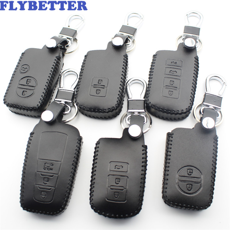 FLYBETTER Genuine Leather Key Case Cover For Toyota Camry/Corolla/Crown/Prado/Highlander/Prius/Avalon/Land Cruiser/CHR L43FLYBETTER Genuine Leather Key Case Cover For Toyota Camry/Corolla/Crown/Prado/Highlander/Prius/Avalon/Land Cruiser/CHR L43