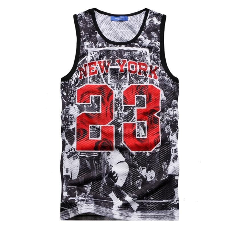 8c24c45b6502 2016 New Fashion men Tank Top Jordan 23  3D Tank Top Print Men Exercise  Tank Tops M