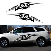 2 X Wings Lightning fast Break Artistic Streak Car Stickers for Camper Van Trailer Truck Canoe Car Styling Vinyl Decal