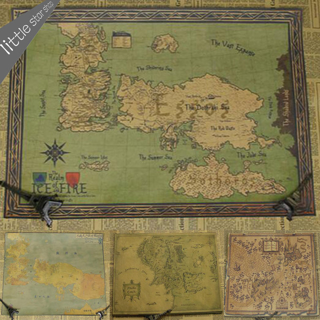 the song of ice and fire game of thrones map vintage retro decorative frame poster wall