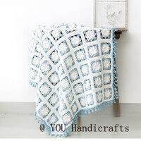 Классический ручной пледы и покрывала для кровати квадратный цветочный DIY Craft пледы на диван Хлопок Снежинка крючком одеяла