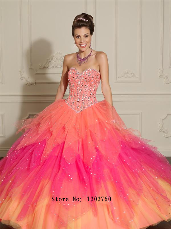 Popular Rainbow Ball Gown Tulle-Buy Cheap Rainbow Ball Gown Tulle ...