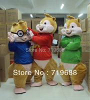 Adult New Alvin and the Chipmunks Mascot Costume Alvin Mascot Costume Free Shipping