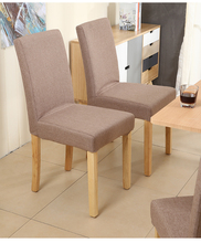 Modern simple solid wood dining chair disassembly restaurant chair home removable wash cloth cover dinette hotel