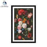Радость воскресенье пион ваза вышивка крестиком узоры китайский вышивка крестиком наборы для Вышивка Кружево Набор