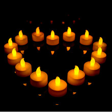 JSEX LED Electric Candle Tea Light Romantic Fake Candles Wedding Decoration Battery Operated Home Decorative Present