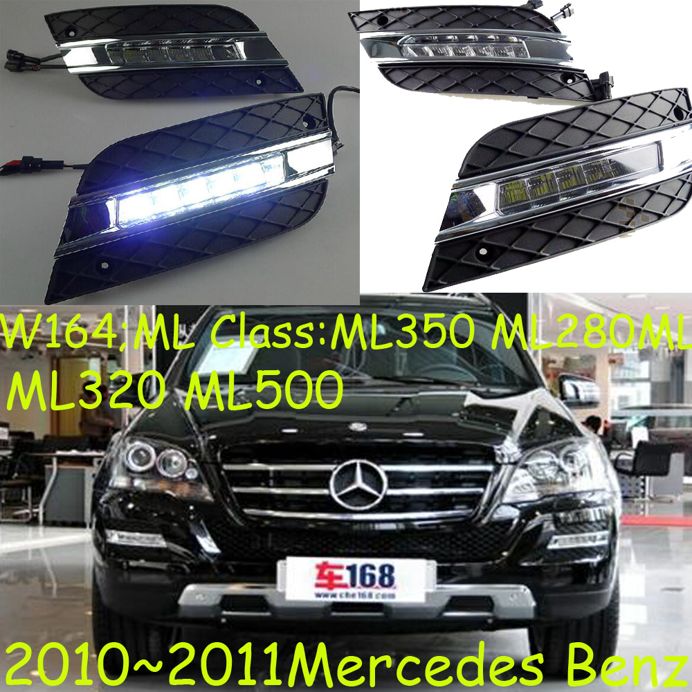 W164 daytime light;2010~2013, Free ship!LED,W164 fog light,2ps/set;W164, ML350 ML280 ML320 ML500 2013 2016 cadilla xts daytime light 4pcs set led free ship xts fog light ats sls srx xlr