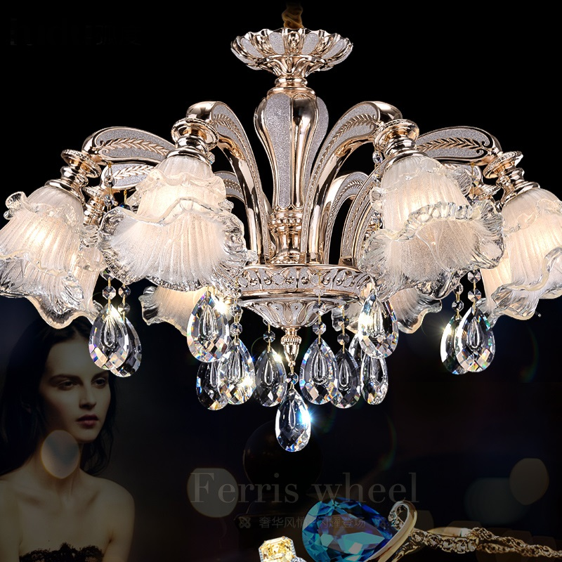 The simplicity of modern ceiling lamps restaurant hall bedroom lamp crystal lamp crystal living room dining room light LU818363