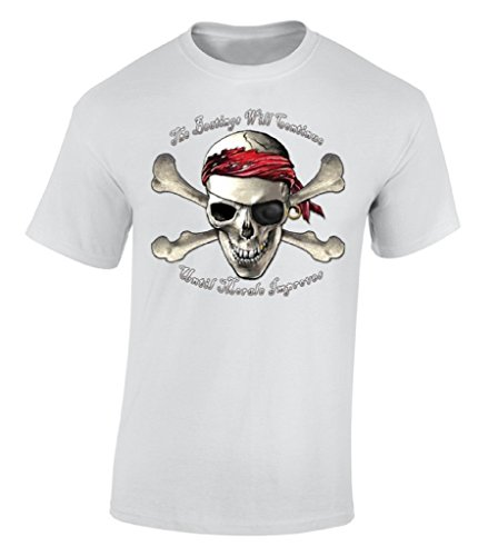 T Shirt Quotes Humor The Beatings Mor Improves Pirate Skull Crew Neck Broadcloth Short T Shirt For Men in T Shirts from Men 39 s Clothing