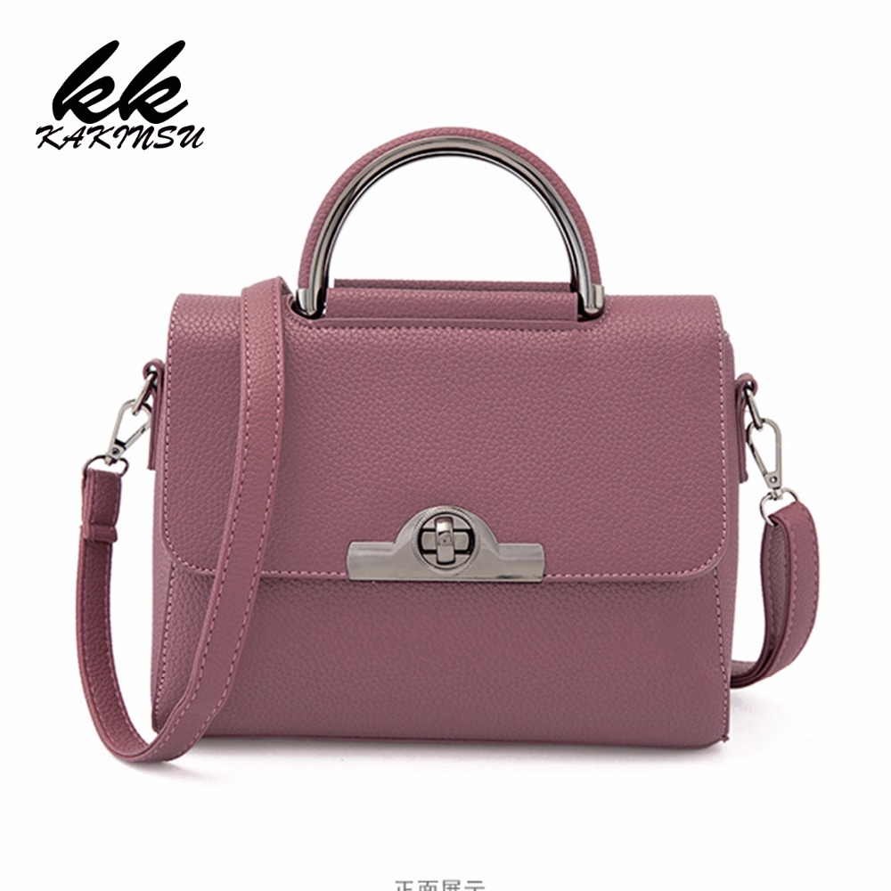 KAKINSU 2018 New style PU Leather Women Handbag Fashion Women Shoulder Bag High Quality Women Messenger Bag Medium Women Tote Ba