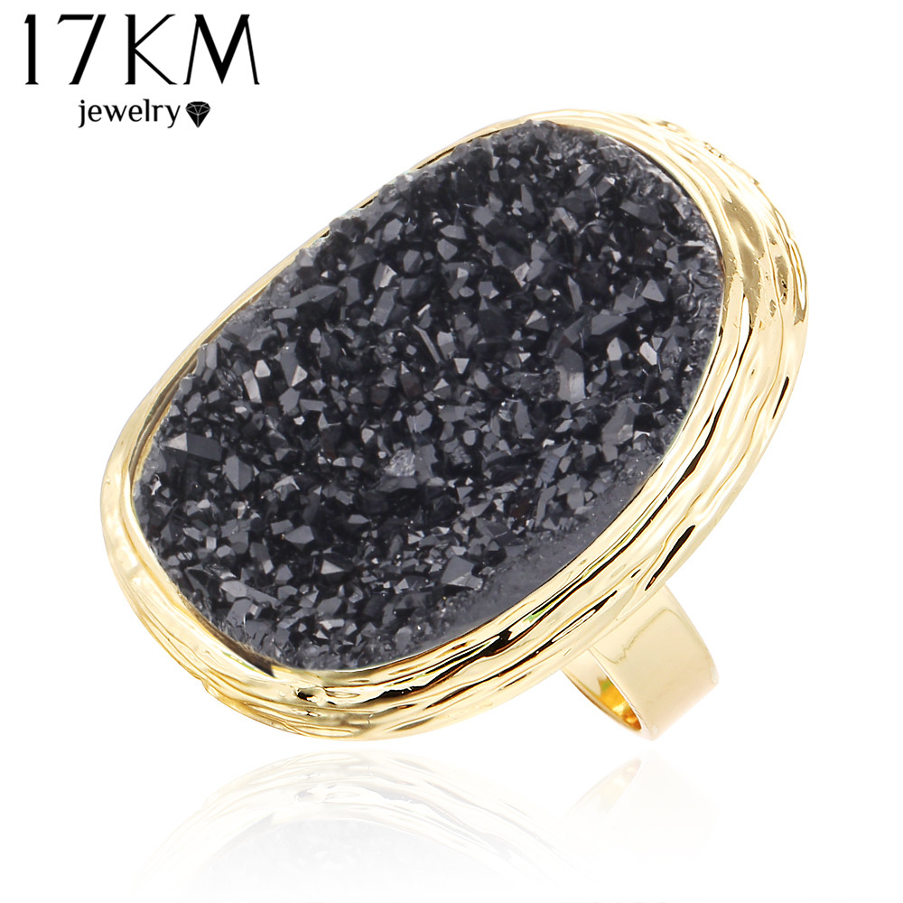 817KM 2017 Hot Natural Natural Stone Rings 4 Colors Big