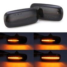 Mayitr 2pcs Flowing LED Side Marker Light Smoke Lens Amber Signal Lamp 8N0 949 127A for Audi A3 S3 8L A8 D2 TT 8N