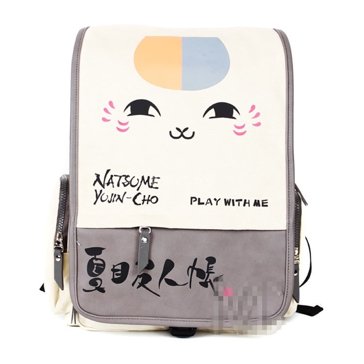 Cartoo Anime Natsume Yuujinchou fashion Leisure Preppy style man woman schoolbag canvas cute Nyanko-sensei bag travel Backpack упаковочная коробка cd dvd vcd cd dvd cd size12 5 12 5 f0098