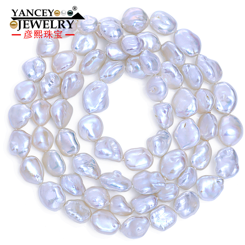 YANCEY NEW 90CM-120CM Genuine Baroque White Pearl Long Necklace For Women New Bijouterie 100% Real Pearl Necklaces Fine Jewelry