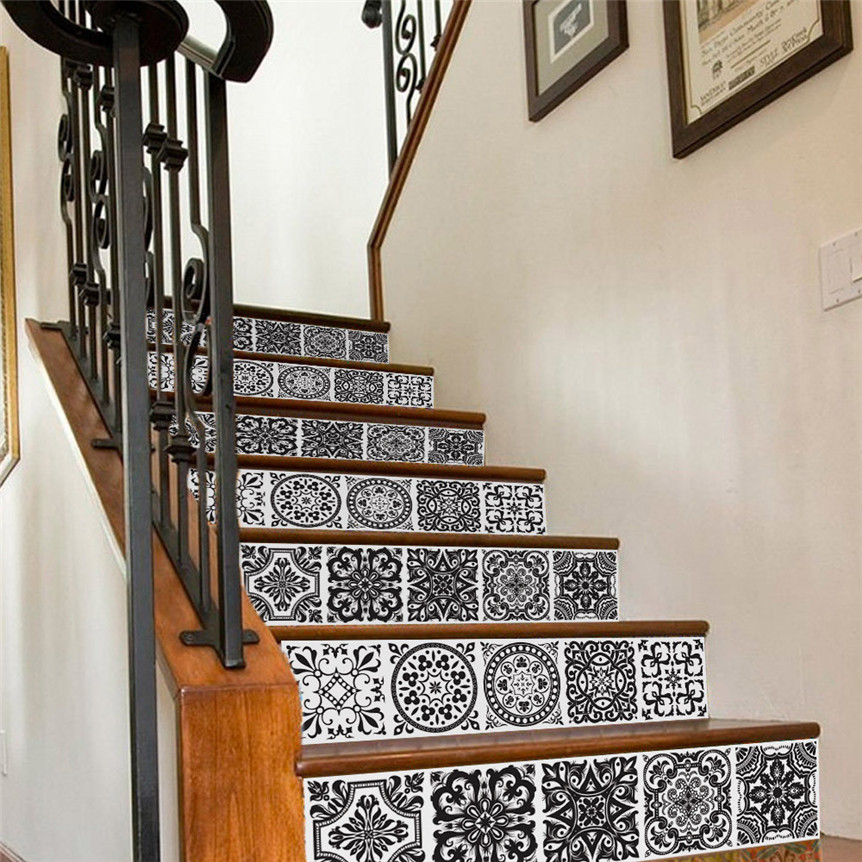 Lovely Pets New DIY Steps Sticker Ceramic Tiles Patterns Stair Sticker Decal Wedding Home Decor Drop Shipping 70803