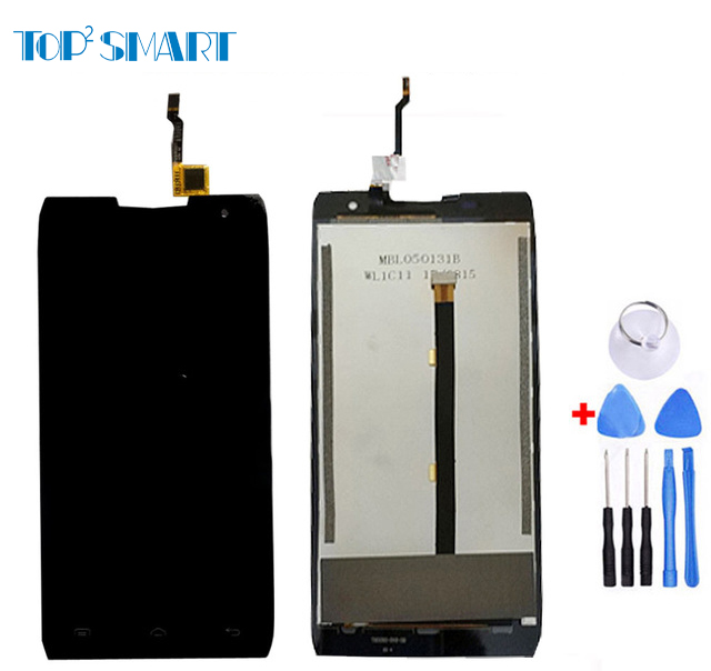 For Doogee T5 top quality LCD Display with Touch Screen Digitizer Assembly for Doogee phone parts with free tools