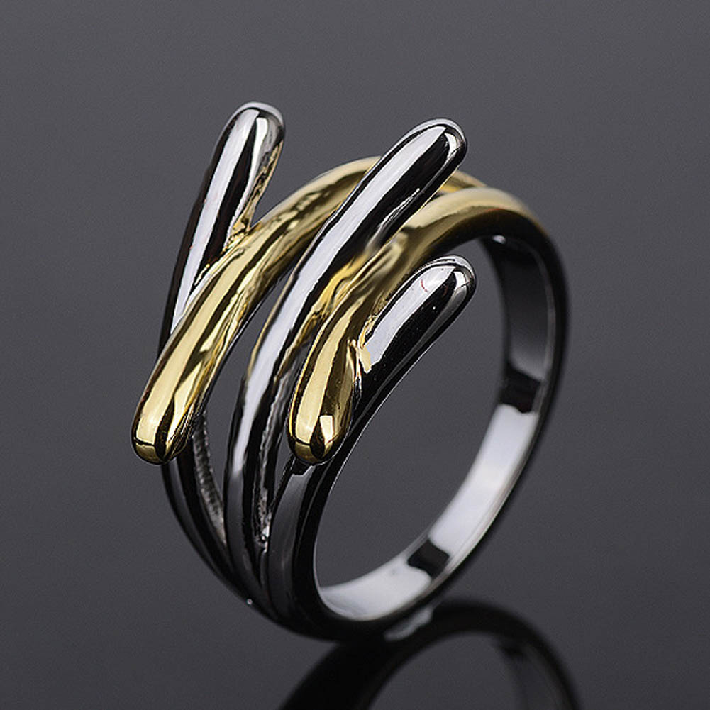 Jewelry Gold & Silver Color Cross Rings For Women Size 6 7 8 9 Female Party Finger Ring 2017 Dropshipping