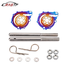 RASTP-Universal Aluminum Racing Engine Bonnet Hood Latch Pin Lock Kit Turbo Style for Car Decoration RS-ENL004