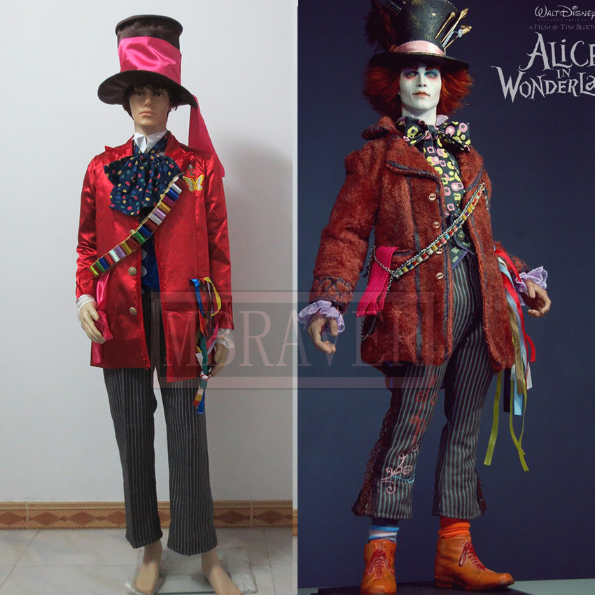 Alice in Wonderland:Through the Looking Glass Mad Hatter Cosplay Costume For Adult