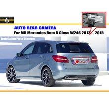 Автомобильная Камера Заднего Вида Для Mercedes Benz B Class W246 2012 ~ 2015/Назад парковочная Камера/HD CCD RCA NTST PAL/Номерной знак Лампа OEM
