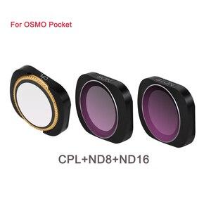 Image 1 - سبائك الألومنيوم المغناطيسي كيس ترشيح مجموعة مختلطة MCUV CPL ND ND PL 3 في 1 و 6 في 1 ل DJI osmo جيب كاميرا تصفية