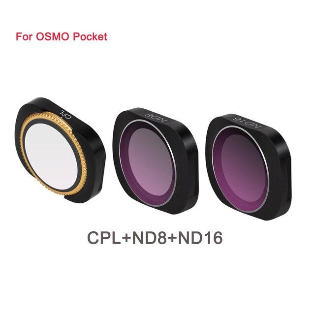 سبائك الألومنيوم المغناطيسي كيس ترشيح مجموعة مختلطة MCUV CPL ND ND PL 3 في 1 و 6 في 1 ل DJI osmo جيب كاميرا تصفية