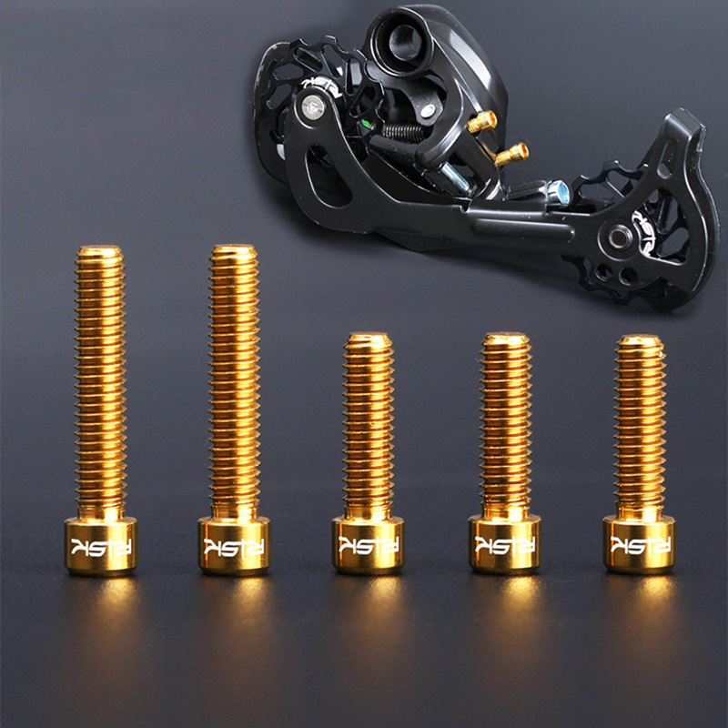 Cycling Parts for Road Mountain Bike Lightweight M4 Bike Screws Titanium Alloy Giant Bicycle Frame Rear Derailleur Hanger Screws