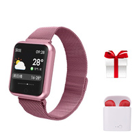 P68 Smart wristband+earphone/set blood pressure fitness watch IP68 waterproof smartband for girl women female birthday gift