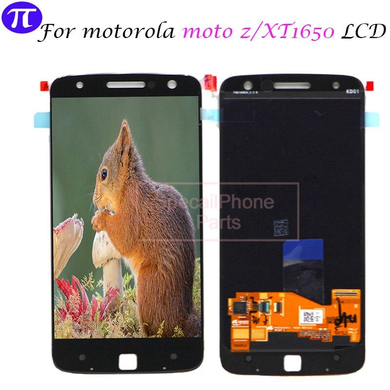 5 5 For Motorola MOTO Z LCD Display Touch Screen for Moto Z Display XT1650 XT1650