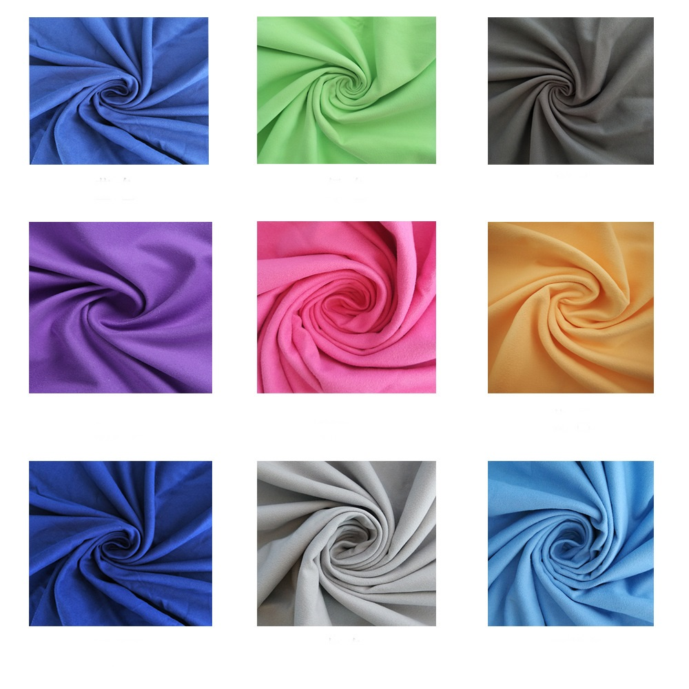 Wholesale Welcome Microfiber double-sided velvet fabric microfiber bath towel beach towel material- 200gsm width160cm