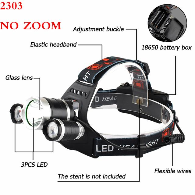 Litwod Z20 13000LM LED T6 Headlamp Head Lamp lighting bicycle Light Flashlight Torch Lantern Fishing headlight For Camping light