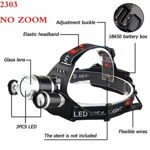 Image 5 - Litwod Z25 головной светильник 3/5 светодиодный T6 налобный фонарь для рыбалки и охоты светильник ing велосипедный светильник вспышки светильник фонарь Фонари светодиодный лампы