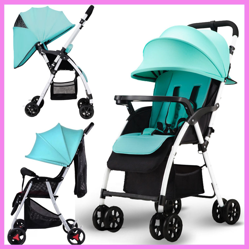 Ultra Light Portable Folding Baby Stroller Can Sit Lie Reverse Handle Four Wheels Umbrella Car Airplane Baby Stroller Pushchair радиоуправляемая машина для дрифта hpi racing rs4 sport 3 drift subaru brz 4wd rtr масштаб 1 10 2 4g