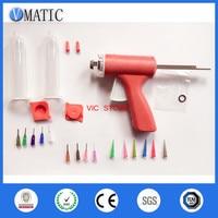 Free Shipping Manual Single Liquid Glue Gun 10cc/ml 1Pc With Dispensing Needle Tips + Syringe With Piston & Cover
