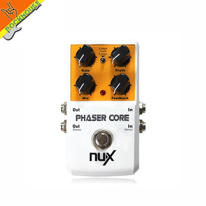 NUX Phaser Core Guitar Effets with 2 types of Phase effects large adjustable range Tone lock function true bypass free shipping effects of khat catha edulis exercise