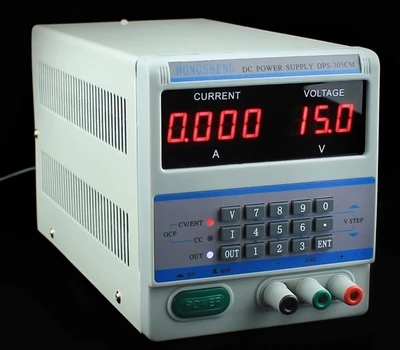 ФОТО Fast arrival 220V input DPS-305CM 4Ps DC Power Supply HONGSHENG DPS305CM With Locking Storage Function 30V 5A