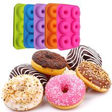 6in1 Donut Baking Tools Silicone Mold DIY Cake Chocolate Decoration Gummy Plunger Cutter Gift Kitchen