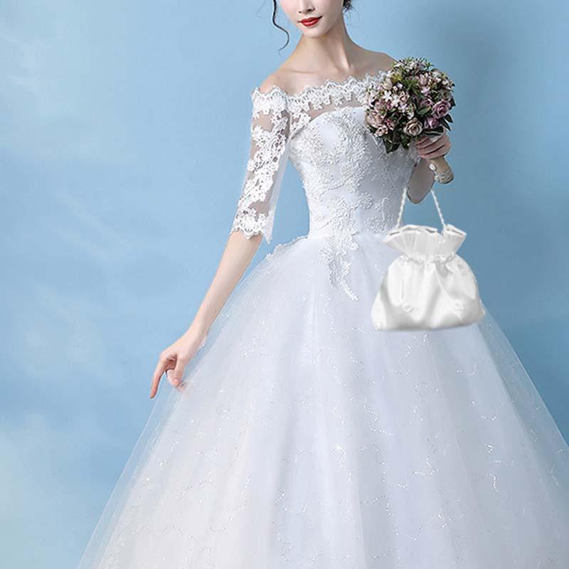2b55ccf80e US $4.19 16% OFF|wedding bridal shower Favor bag for bride Accessories  bridesmaid flower girl gift even party Money Bag Dolly Handbag candy bag-in  ...