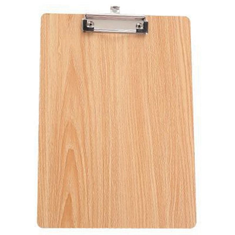 HOT-A4 Size Wooden Clipboard Clip Board Office School Stationery With Hanging Hole File Folder Stationary Board Hard Board Wri